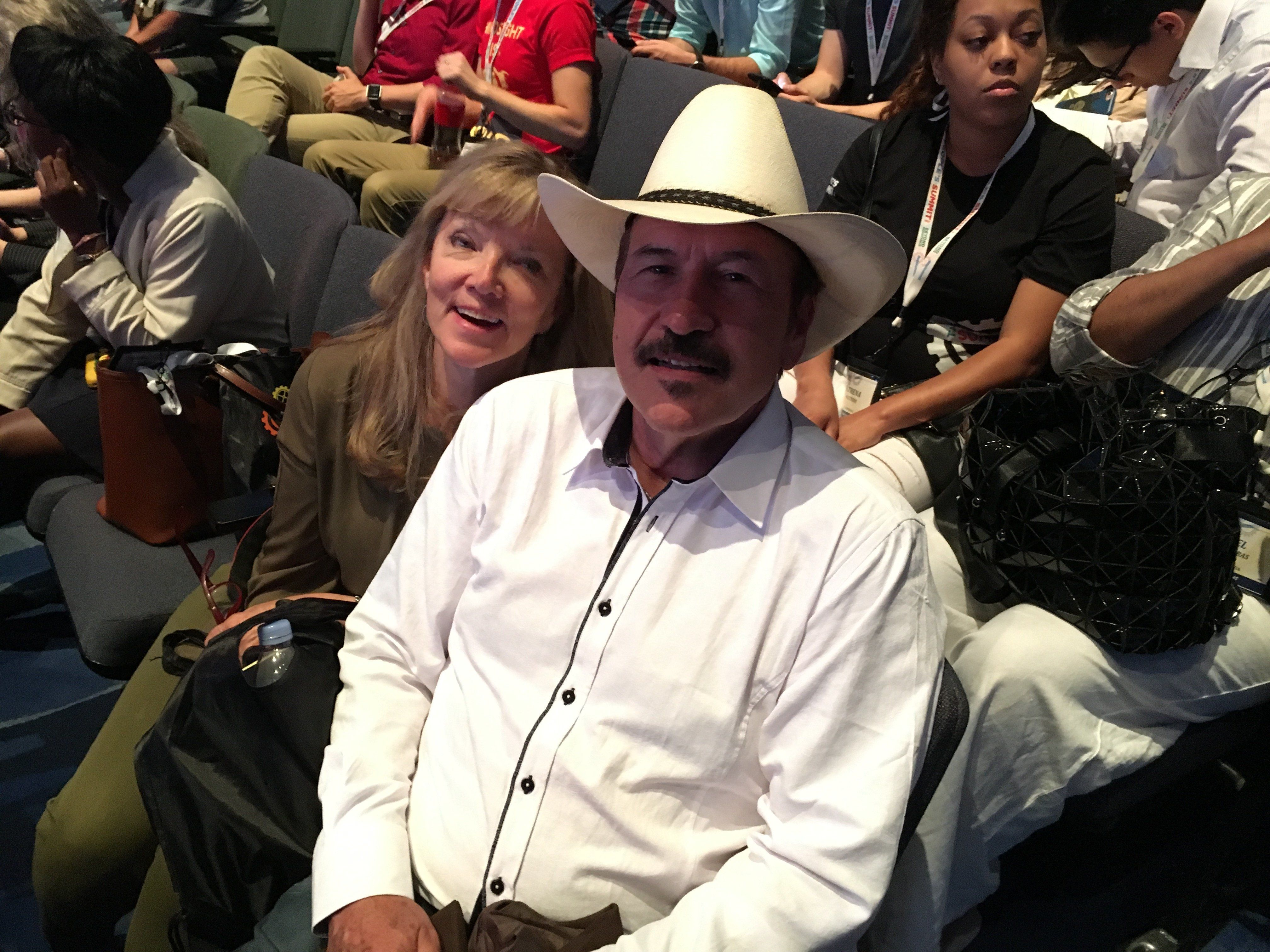 Montana Democrat Rob Quist and Bonni Willows, his wife, at the progressive People's Summit in Chicago on Saturday.