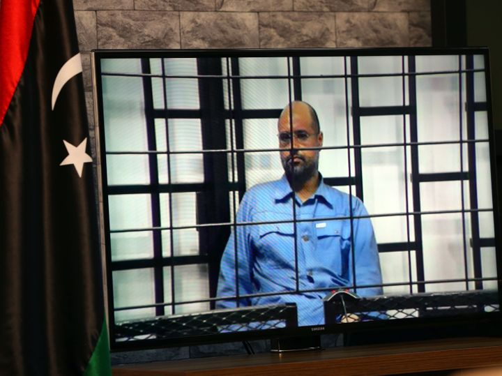 Judges question Saif al-Islam Gaddafi.
