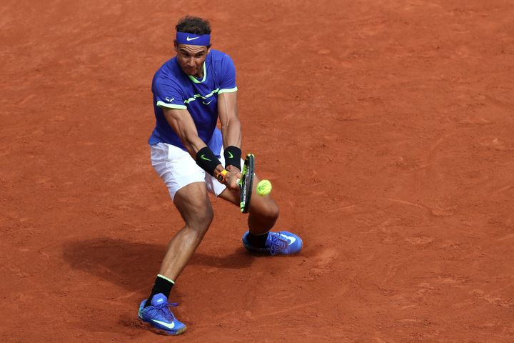 French Open, Roland Garros, Paris, France - June 11, 2017: Spain's Rafael Nadal in action during the final against Switzerlan