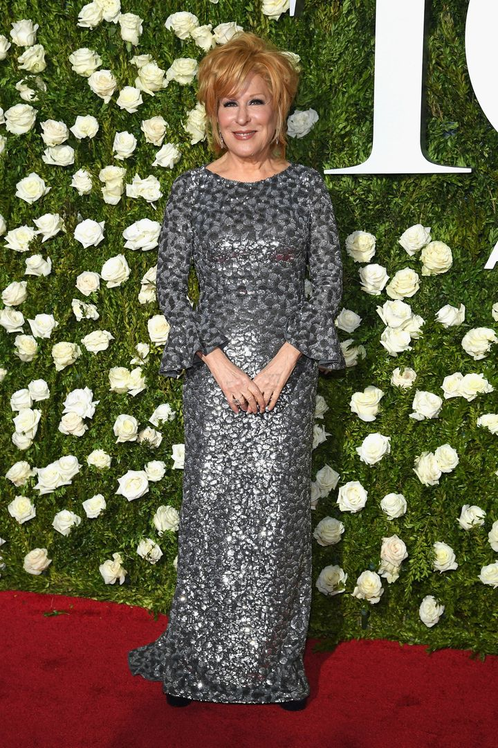 Bette Midler at the 2017 Tony Awards.