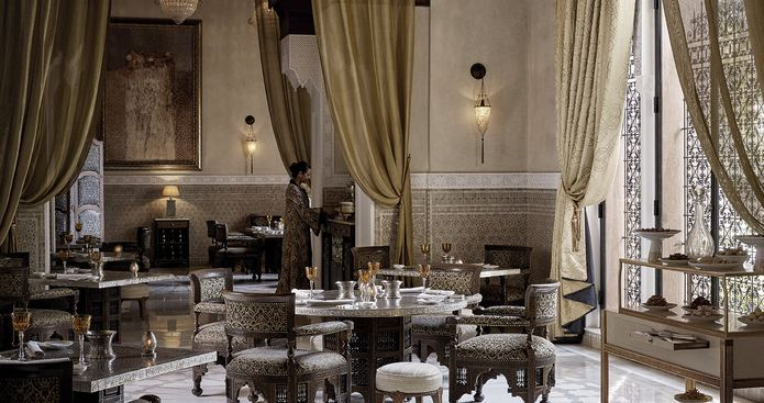 The dining room at La Grande Table Marocaine