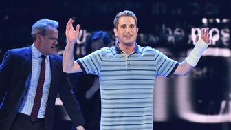 NEW YORK, NY - JUNE 11:  Ben Platt performs with the cast of 'Dear Evan Hansen' onstage during the 2017 Tony Awards at Radio City Music Hall on June 11, 2017 in New York City.  (Photo by Theo Wargo/Getty Images for Tony Awards Productions)