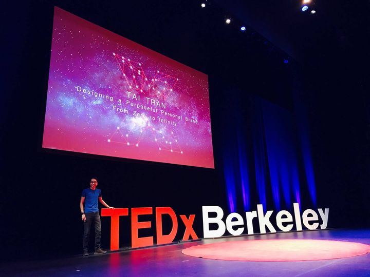 """<p>Tai speaks on the TEDx stage about how to design a compelling personal brand from """"<a href=""""https://goo.gl/IoLhIQ"""" target=""""_blank"""" role=""""link"""" rel=""""nofollow"""" data-ylk=""""subsec:paragraph;itc:0;cpos:__RAPID_INDEX__;pos:__RAPID_SUBINDEX__;elm:context_link"""">zero to infinity</a>."""" </p>"""