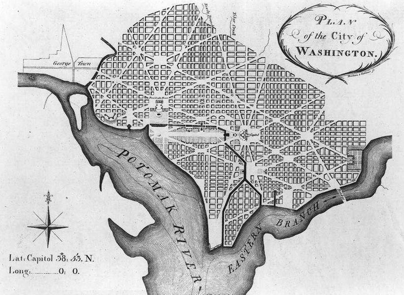 Pierre L'Enfant, Plan of the City of Washington, 1791.