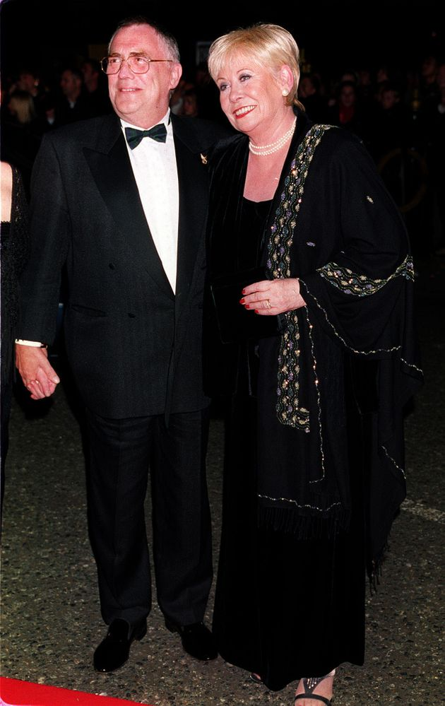 With her on-screen husband Bill Tarmey at the 2000