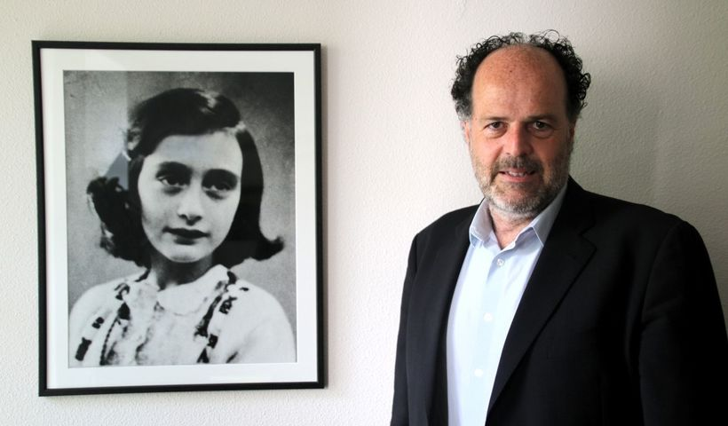 """Ronald Leopold, executive director of the Anne Frank House: <em>""""Young people across the world, first and foremost, hear thei"""