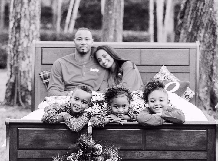 Rashard with wife Giovanni, Rashard Jr. (6), Grayson (5), Gianna (9)