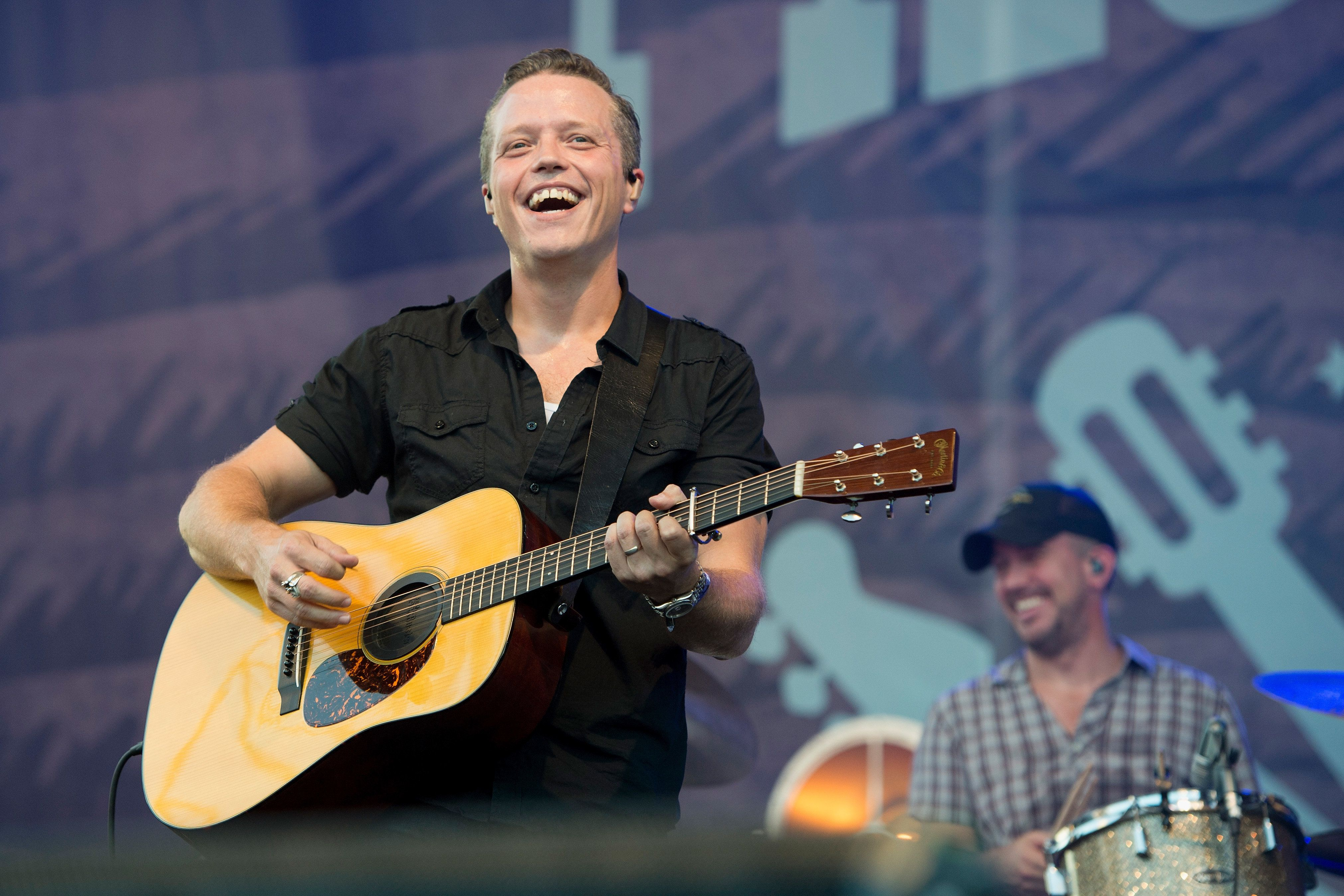 FRANKLIN, TN - SEPTEMBER 25:  Jason Isbell and Chad Gamble perform on September 25, 2016 in Franklin, Tennessee.  (Photo by Erika Goldring/Getty Images for Pilgrimage Music & Cultural Festival)