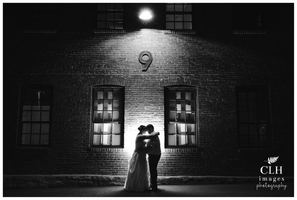 """""""After nine amazing years together, Jenn and Chris tied the knot at the gorgeous Cork Factory Hotel in Lancaster, Pennsylvani"""