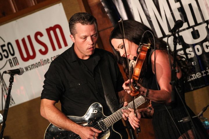 Amanda Shires and Jason Isbell on Sept. 22, 2016, in Nashville.
