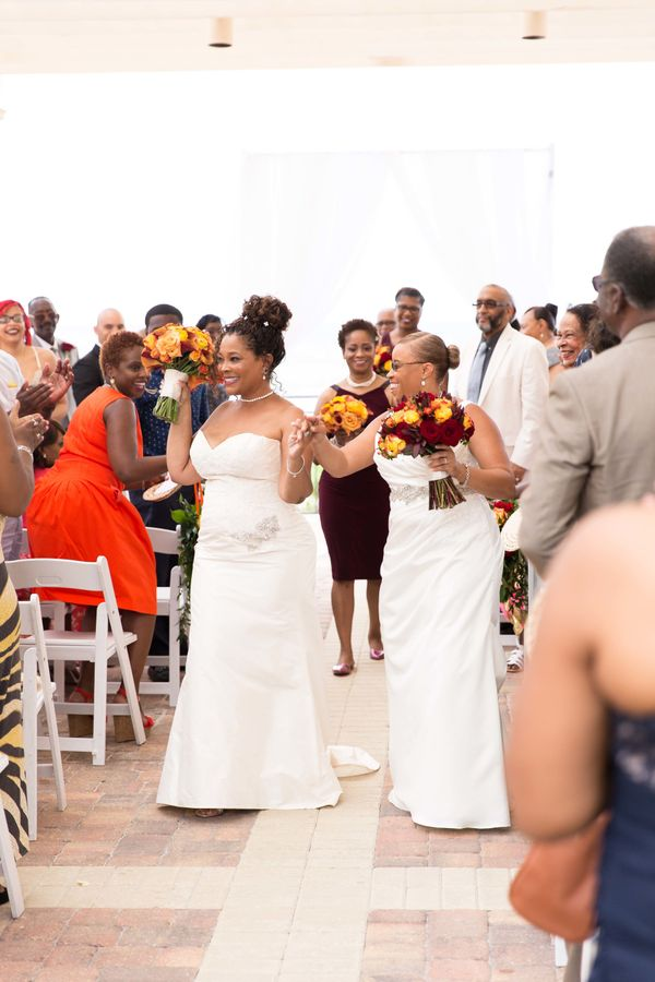"""""""Jacqueline and Lynette Blatch married inPonte Vedra, Florida."""" --<i>Anesha Collins</i>"""