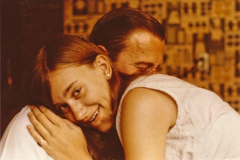 The author, Linda Gray Sexton, with her father, Al Sexton circa the 1960s.