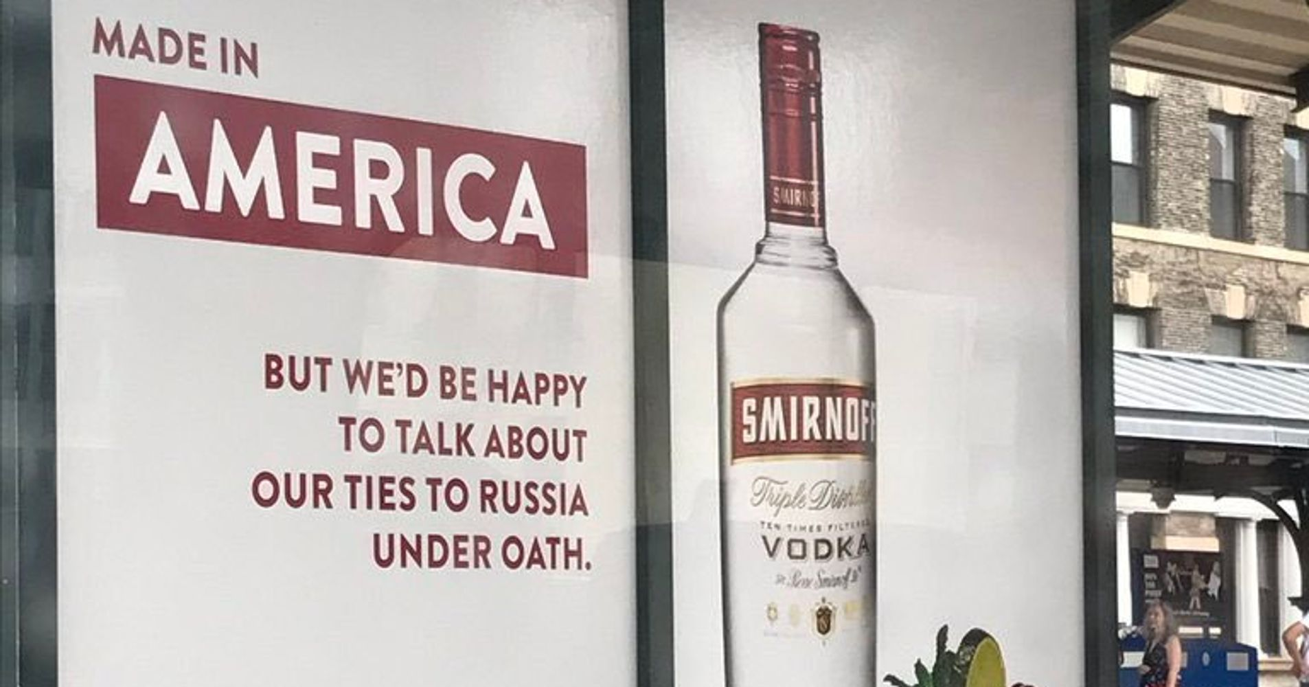Smirnoff Vodka Hilariously Trolls Trump With New Bus Stop Ad