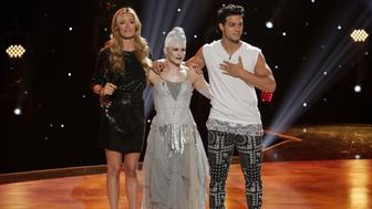 SO YOU THINK YOU CAN DANCE:  Host Cat Deeley announces eliminated contestants Marrisa Milele and Asaf Goren on SO YOU THINK YOU CAN DANCE airing Monday, August 3 (8:00-10:00 PM ET live/PT tape-delayed) on FOX. (Photo by FOX via Getty Images)