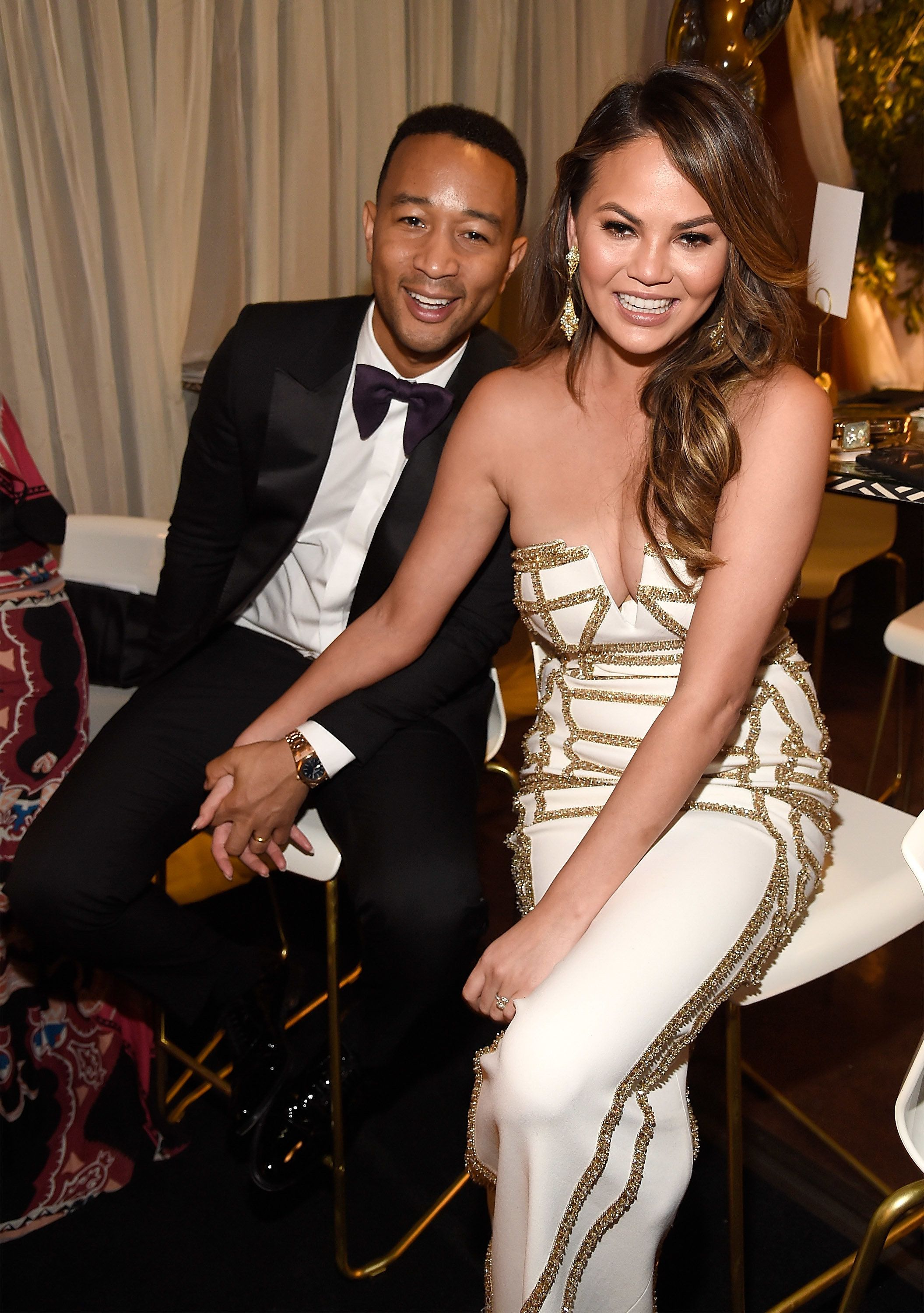 NEW YORK, NY - JUNE 11:  John Legend and Chrissy Teigen attend the 2017 Tony Awards at Radio City Music Hall on June 11, 2017 in New York City.  (Photo by Kevin Mazur/Getty Images for Tony Awards Productions)