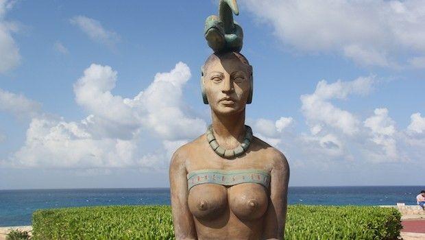 Mayan goddess Ixchel at Punta Sur, Isla Mujeres.