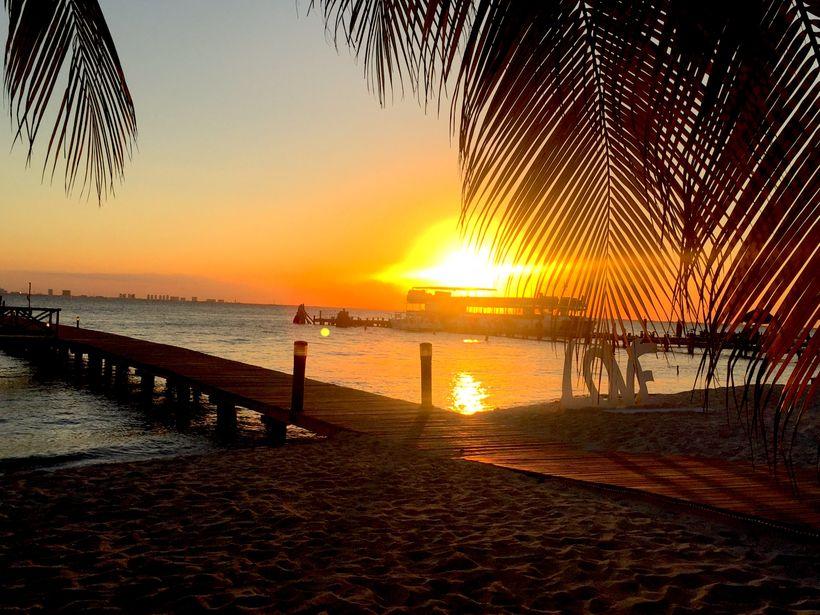 Sunset at Isla Mujeres Palace Resort
