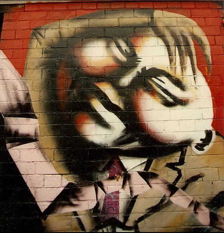 An early piece by aerosol artist Jody Thomas, who first attended the Barton Hill Youth Center when he was 15-years-old.