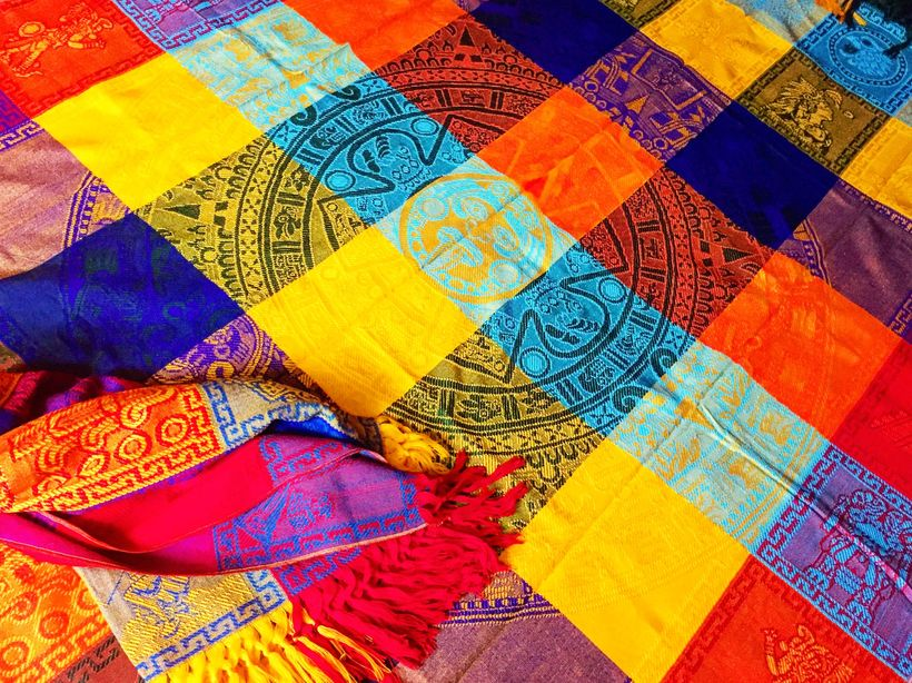 Mayan inspired blanket purchased for $20