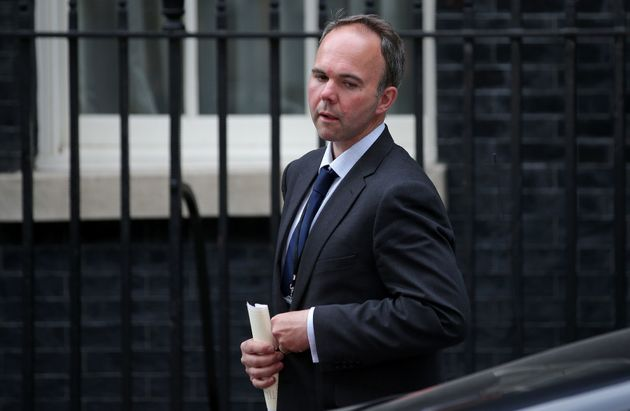 Former Housing Minister Gavin Barwell received thunderous applause from Tory
