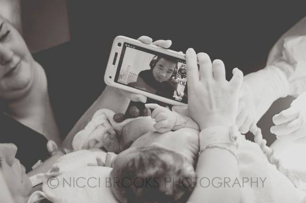 """""""This is the moment that this daddy, who is in the military, got to meet his boy — from oceans away. Sadly, the baby pa"""