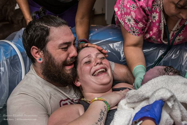 """""""This was this couple's first girl and their last baby. It was also their first home birth and it just all came together for"""