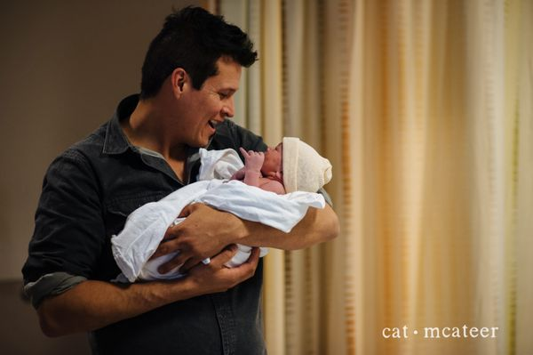 """""""This particular first-time dad was so fun to watch during labor and then after the birth of his son. He was cracking jokes t"""