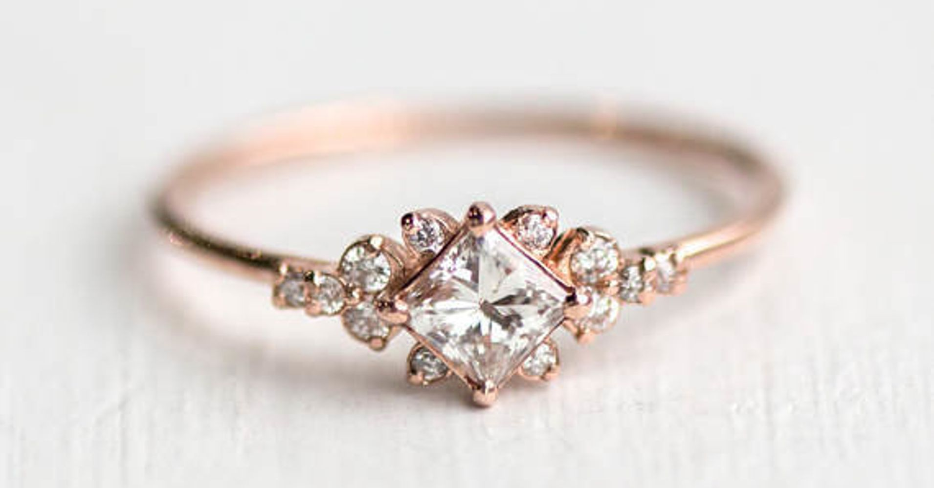 16 Rose Gold Engagement Rings So Pretty, They'll Make You Blush  Huffpost