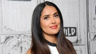 NEW YORK, NY - JUNE 07: Actress Salma Hayek attends Build to discuss 'Beatriz At Dinner' at Build Studio on June 7, 2017 in New York City.  (Photo by Desiree Navarro/WireImage)