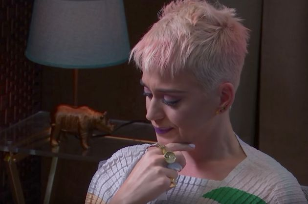 Katy Perry during a therapy session streamed live on YouTube Friday