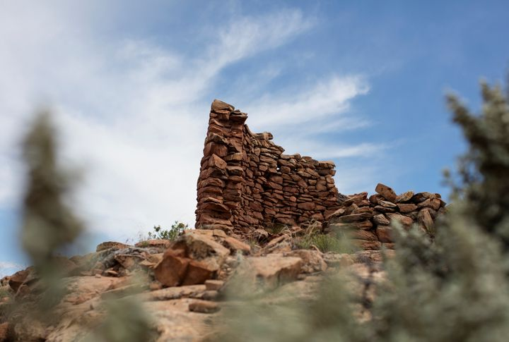 A 13th century masonry structure is seen in Bears Ears National Monument.