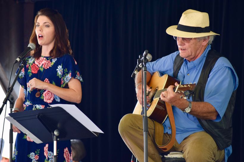Bonnie Avett Rini and Jim Avett at MerleFest, April 30, 2017.
