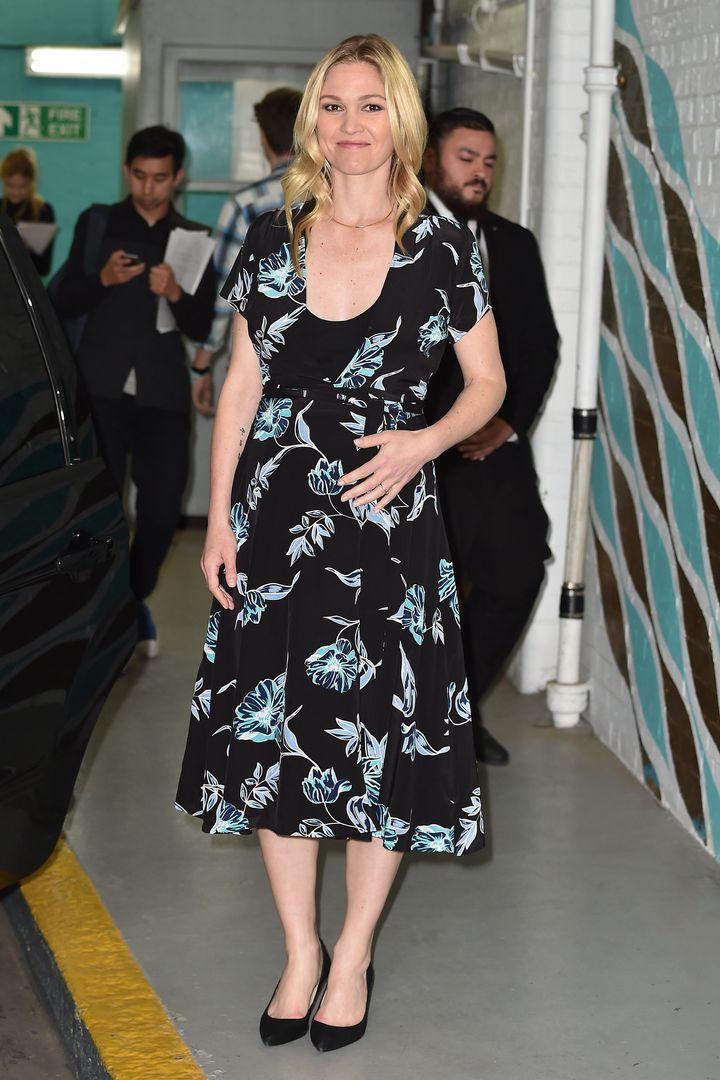 Julia Stiles steps out in London.