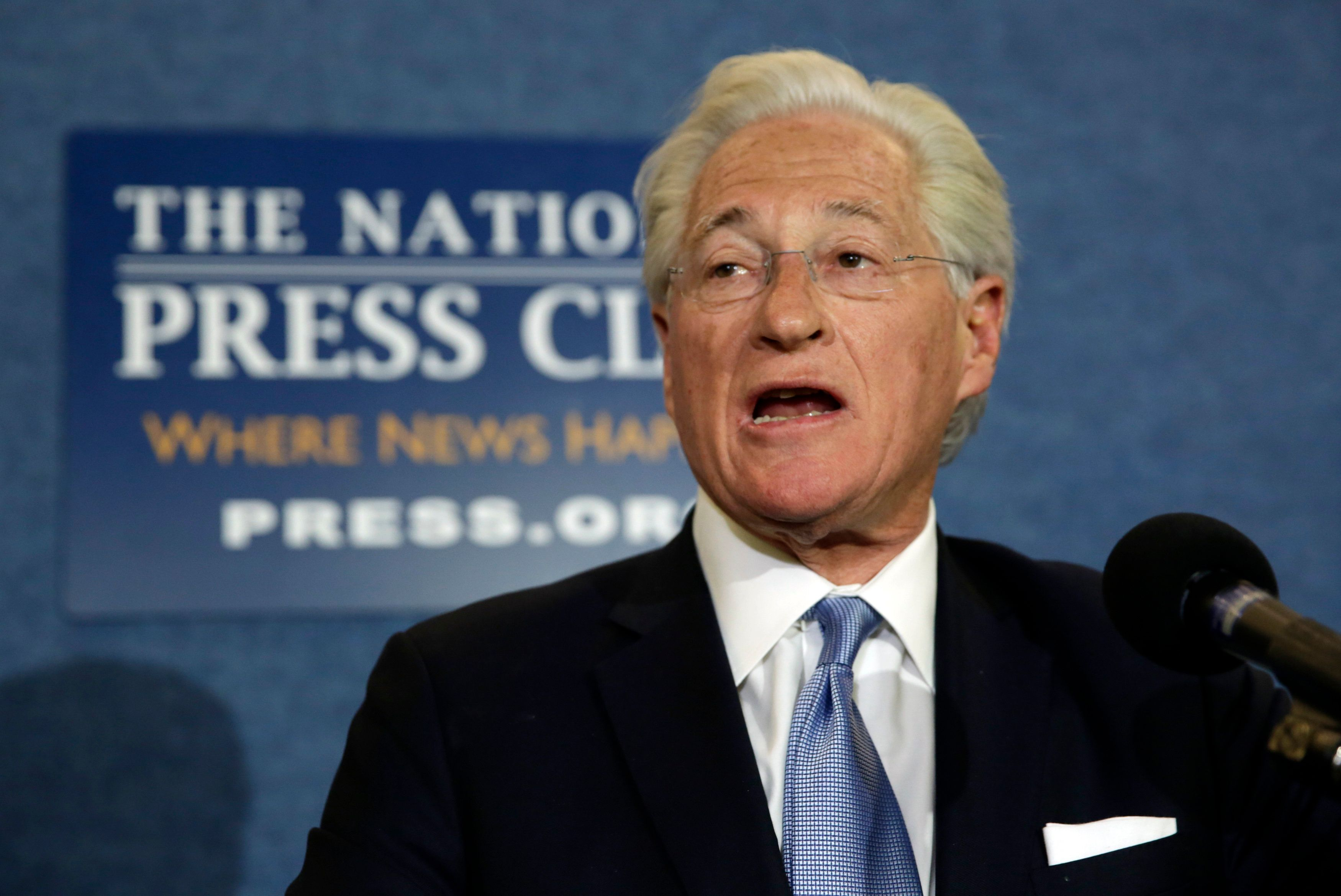 U.S. President Donald Trump's personal attorney, Marc Kasowitz, speaks to the news media after the congressional testimony of former FBI Director James Comey, at the National Press Club in Washington, U.S. June 8, 2017. REUTERS/Yuri Gripas