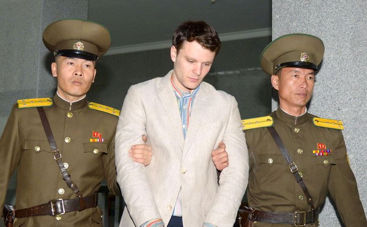 This photo released by Kyodo on March 16, 2016, shows Otto Frederick Warmbier, a University of Virginia student who was detai