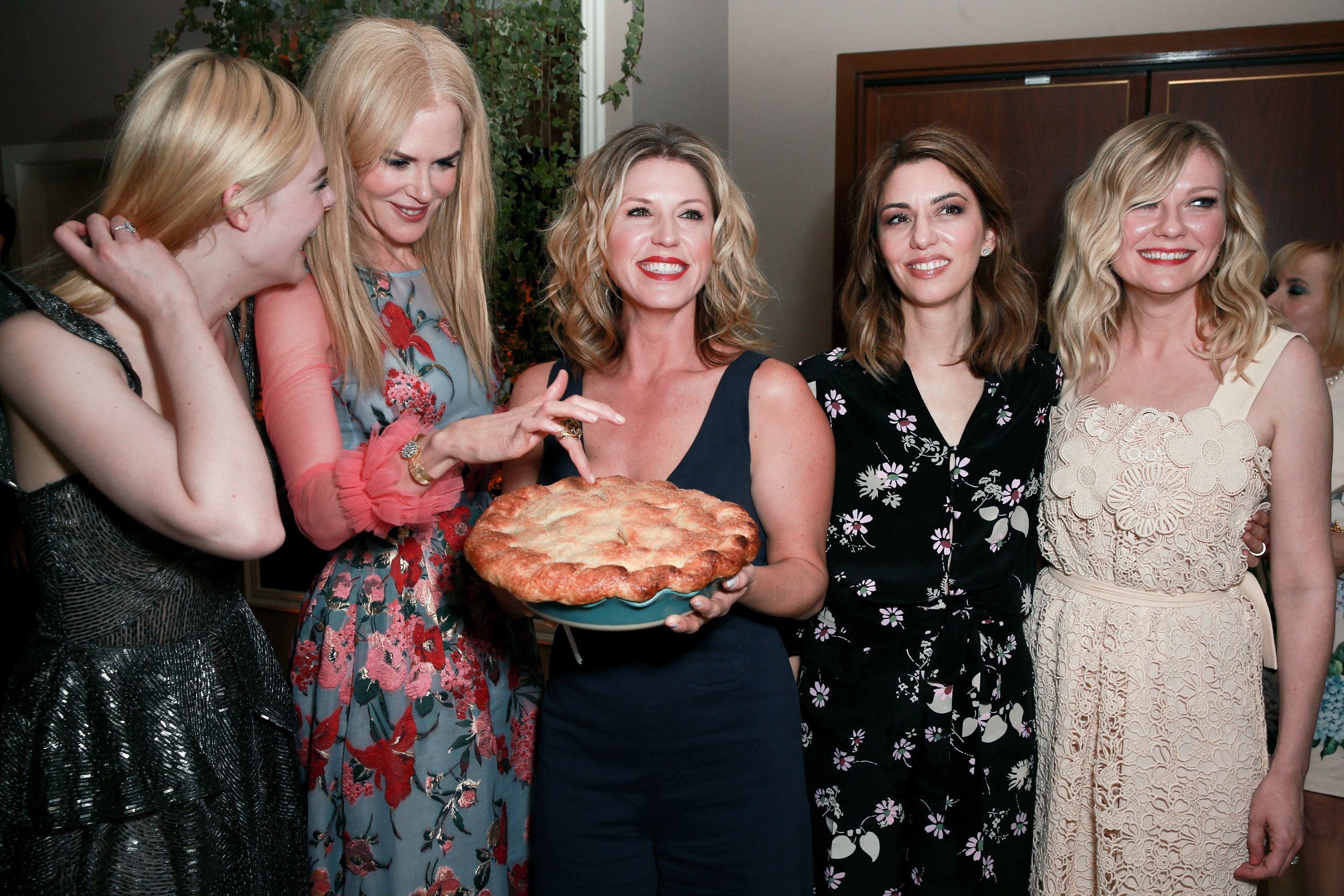 LOS ANGELES, CA - JUNE 12:  (L-R) Actors Elle Fanning, Nicole Kidman, Chef Casey Thompson, director Sofia Coppola and actor Kirsten Dunst attend the after party for the premiere of Focus Features' 'The Beguiled' at Sunset Tower Hotel on June 12, 2017 in Los Angeles, California.  (Photo by Rich Fury/Getty Images)