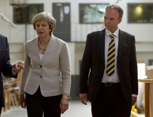 Theresa May with Gavin Barwell, who is now her new Chief of