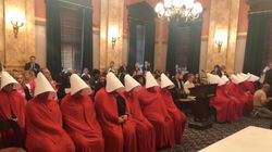 Women Dressed As Handmaids Fill Statehouse To Protest Anti-Abortion