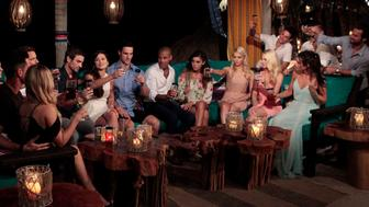 BACHELOR IN PARADISE - 'Episode 305A' - The excitement continues for the hopeful contestants in the gorgeous town of Sayulita, Mexico, after the dramatic cliffhanger, on the next episode of the highly anticipated 'Bachelor in Paradise,' MONDAY, AUGUST 29 (8:00-10:01 p.m. EDT). (Rick Rowell/ABC via Getty Images) ISABEL GOODKIND, JARED HAIBON, CAILA QUINN, DANIEL MAGUIRE, GRANT KEMP, LACE MORRIS, HALEY FERGUSON, EMILY FERGUSON, WELLS ADAMS, ASHLEY IACONETTI, CARL KING, RYAN BECKETT