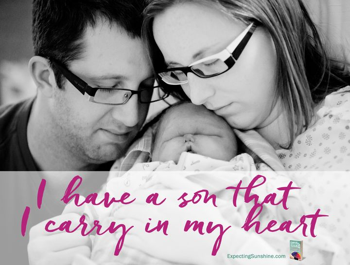 Aaron and Alexis Marie Chute with their second child, Zachary, on the day he was born and died in 2010.