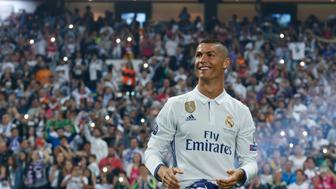 MADRID, SPAIN - JUNE 04:  Cristiano Ronaldo of Real Madrid celebrate his UEFA Champions League victory at Estadio Santiago Bernabeu on June 4, 2017 in Madrid, Spain.  (Photo by Angel Martinez/Real Madrid via Getty Images)