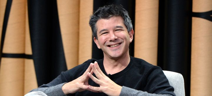 "Uber CEO Travis Kalanick pictured at an event in San Francisco on Oct. 19, 2016. He called for an ""urgent investigation"""
