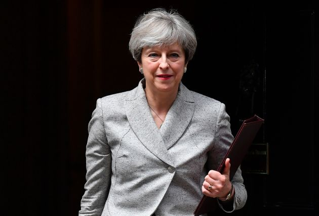 Theresa May leaves No.10 Downing