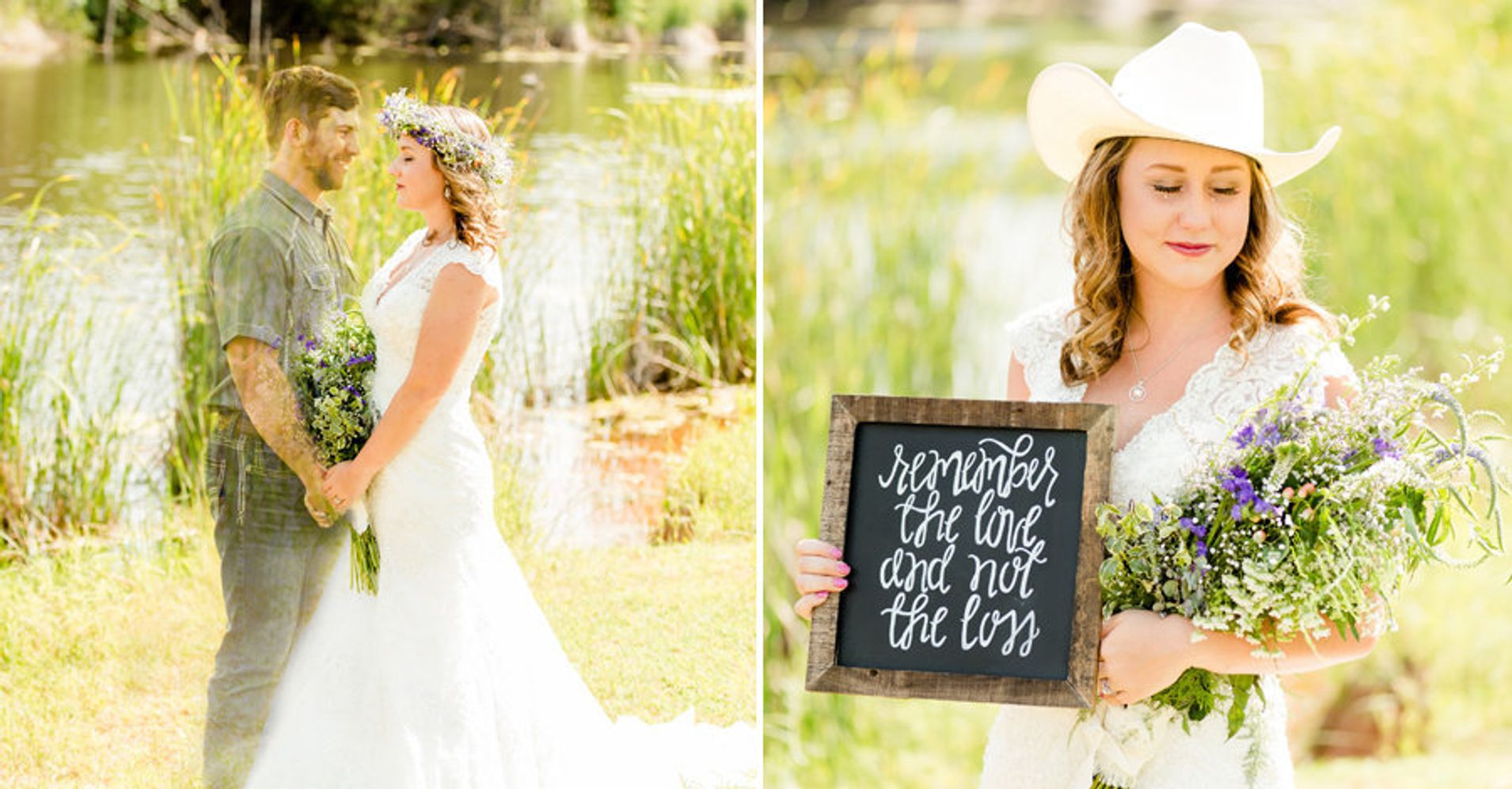 Grieving bride takes photos in wedding dress after fiance for Bride dress after wedding