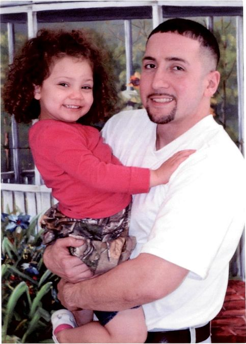 Corey Ladd with his daughter, Charlee.