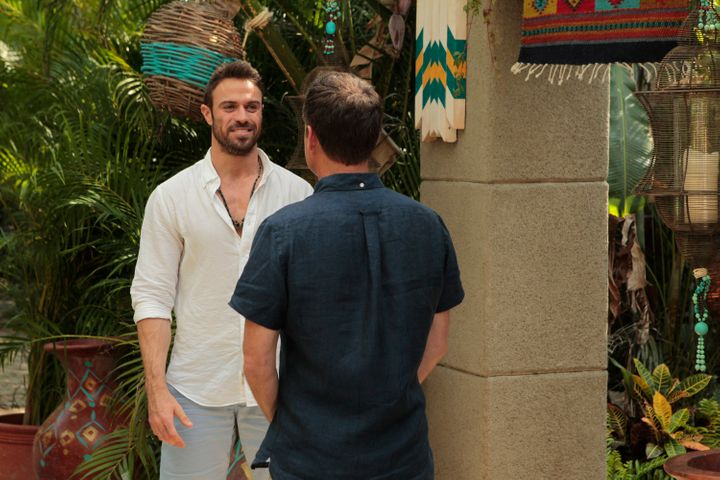"""Chad Johnson and Chris Harrison on Season 3 of """"Bachelor in Paradise."""""""