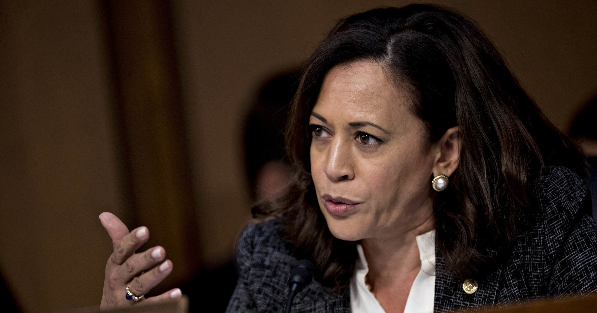 Kamala Harris Once Again Interrupted By Male Colleagues During Senate Hearing