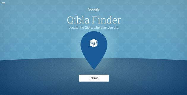 Google launched a webapp that helps Muslims find the Qibla -- the direction towards