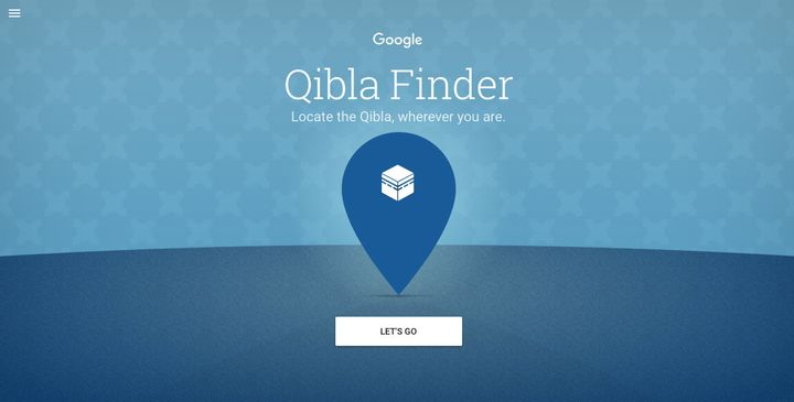 Google launched a webapp that helps Muslims find the Qibla -- the direction towards Mecca.