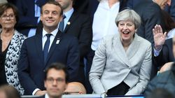 Theresa May Did A Mexican Wave At The France v England Game And It Was